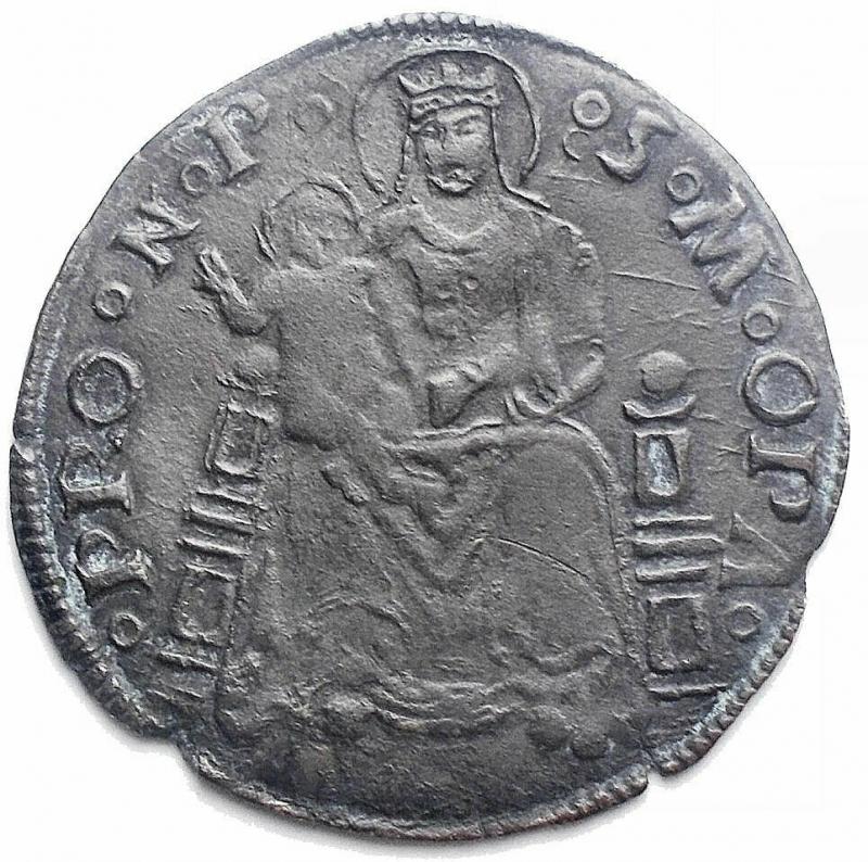 obverse: Zecche Italiane - Pesaro. Giovanni Sforza (1489 - 1500 e 1503 - 1510). Grosso. CNI 25. AG. gr 2,08. mm 24,74. Buon esemplare. Patina scura