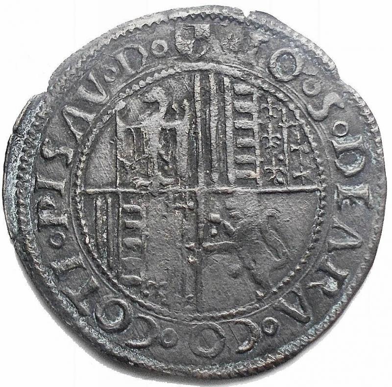 reverse: Zecche Italiane - Pesaro. Giovanni Sforza (1489 - 1500 e 1503 - 1510). Grosso. CNI 25. AG. gr 2,08. mm 24,74. Buon esemplare. Patina scura