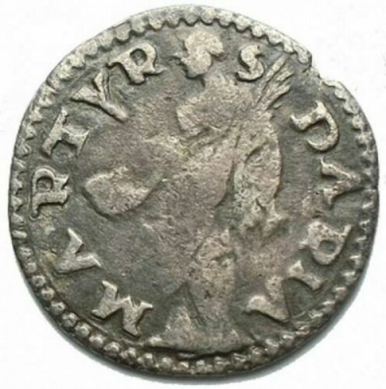 obverse: Zecche Italiane - Reggio Emilia. Ercole II d'Este (1534-1559). Colombina con Santa Daria. Ag. Rara. MIR 1317 variante