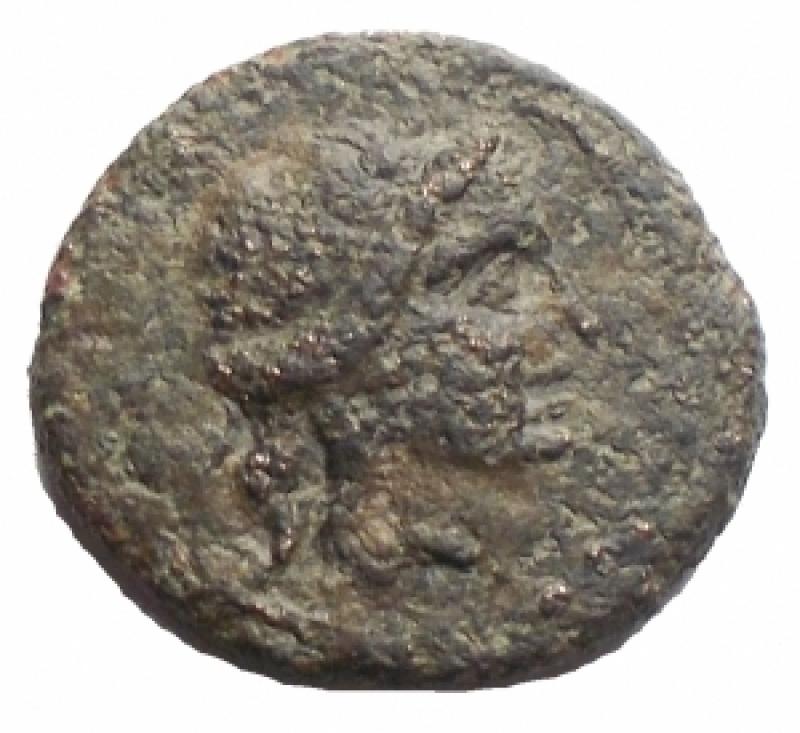 obverse: Mondo Greco - Sicilia. Siracusa. Dominio romano ca 212 a.C. AE. mm 15,2. g 2,45 d/Testa di Apollo a ds. r/Apex. qBB-BB