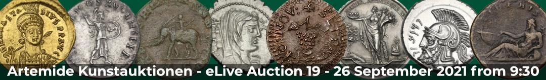 Banner Artemide eLive Auktion 19
