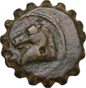 obverse: Seleucid Kings.  Demetrios I Soter (162-150 BC).. AE Serratus, Antioch ad Orontem mint