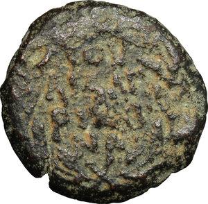 obverse: Judaea.  Claudius (41-54).. AE Prutah, struck under Antonius Felix