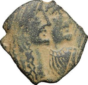 obverse: Nabatea.  Rabbel II (70-106 AD). AE, Petra mint