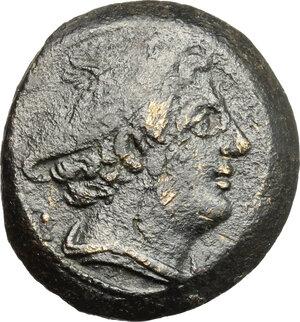 obverse: Anonymous semilibral series. AE Semuncia. 217-215 BC