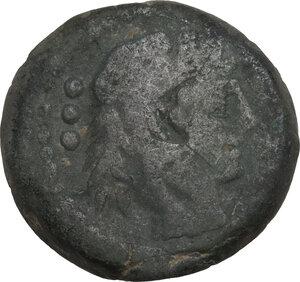 obverse: Cluvius Saxula. AE Quadrans, 169-158 BC