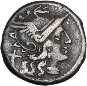 obverse: C. Maianius. Denarius, Rome mint, 153 BC