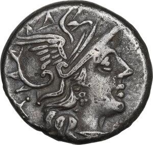 obverse: C. Decimius Flavus. Denarius, Rome mint, 150 BC