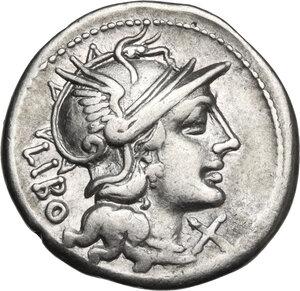 obverse: Q. Marcius Libo. Denarius, Rome mint, 148 BC