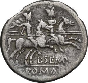 reverse: L. Sempronius Pitio. Denarius, Rome mint, 148 BC