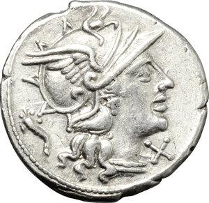 obverse: L. Cupiennius.. AR Denarius, 147 BC