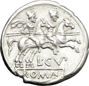 reverse: L. Cupiennius.. AR Denarius, 147 BC