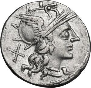 obverse: T. Annius Rufus. Denarius, Rome mint, 144 BC