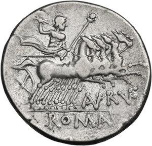 reverse: T. Annius Rufus. Denarius, Rome mint, 144 BC