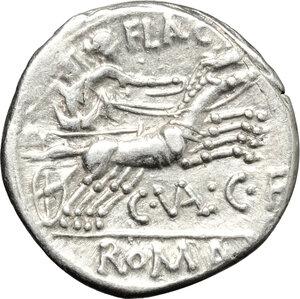 reverse: C. Valerius Flaccus.. AR Denarius, 140 BC