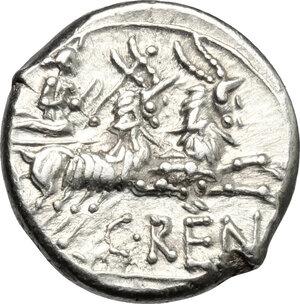 reverse: C. Renius.. AR Denarius, 138 BC
