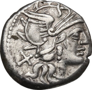 obverse: C. Renius.. AR Denarius, 138 BC