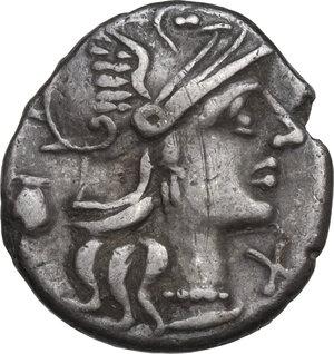 obverse: Sex. Pompeius. Denarius, Rome mint, 137 BC