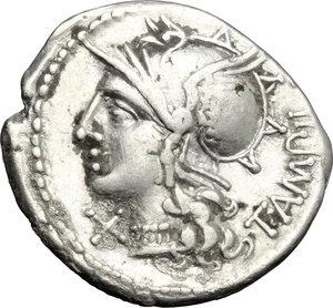 obverse: M. Baebius Q. f. Tampilus.. AR Denarius, 137 BC