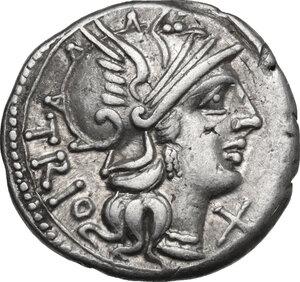 obverse: Cn. Lucretius Trio.. AR Denarius, 136 BC