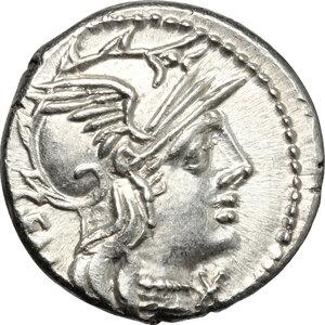 obverse: C. Aburius Geminus.. AR Denarius, 134 BC: