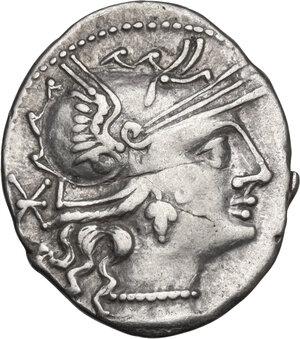 obverse: Publius Calpurnius Lanarius. Denarius, Rome mint, 133 BC