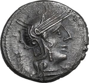 obverse: M. Opimius . AR Denarius, 131 BC