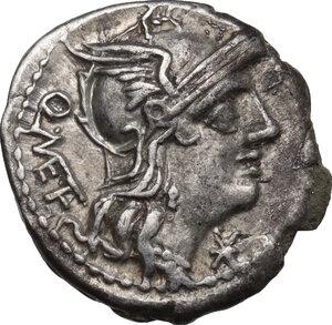 obverse: Q. Caecilius Metellus . AR Denarius, 130 BC