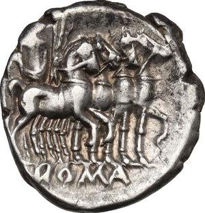 reverse: Q. Caecilius Metellus . AR Denarius, 130 BC