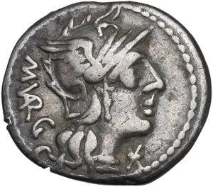 obverse: M. Vargunteius. Denarius, Rome mint, 130 BC