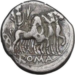 reverse: M. Vargunteius. Denarius, Rome mint, 130 BC