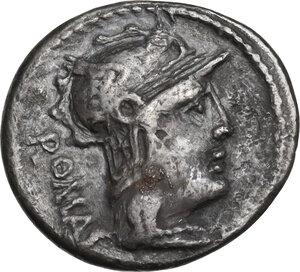 obverse: M. Caecilius Q.f. Q.n. Metellus. Denarius, Rome mint, 127 BC