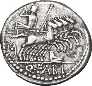 reverse: Q. Fabius Labeo. AR Denarius, 124 BC