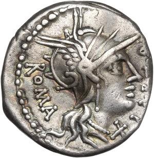 obverse: Q. Fabius Labeo. AR Denarius, 124 BC