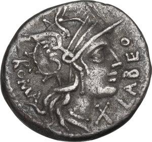 obverse: Q. Fabius Labeo. Denarius, Rome mint, 124 BC