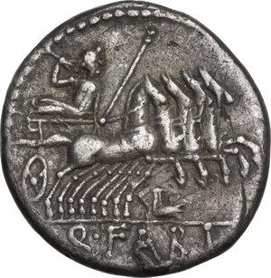 reverse: Q. Fabius Labeo. Denarius, Rome mint, 124 BC