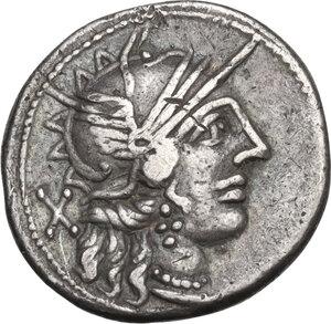 obverse: C. Porcius Cato. Denarius, Rome mint, 123 BC
