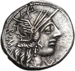 M. Fannius C. f.. AR Denarius, 123 BC