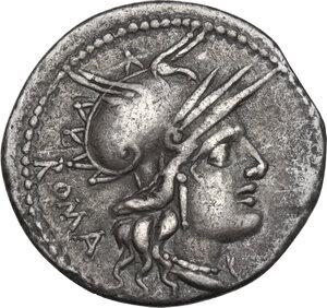 obverse: M. Tullius. Denarius, Rome mint, 120 BC
