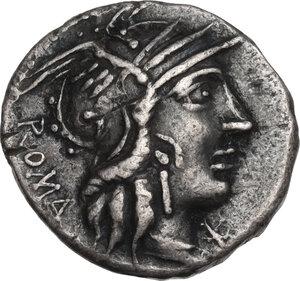 obverse: M. Calidius, Q. Metellus and Cn. Fulvius. Denarius, 117 or 116 BC
