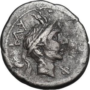 obverse: L. Marcius Philippus. Denarius, 113 or 112 BC