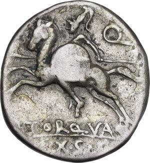 reverse: L. Torquatus. AR Denarius, 113 or 112 BC
