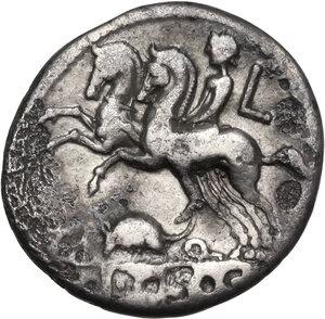 reverse: Ti. Quinctius. Denarius, Rome mint, 112 or 111 BC