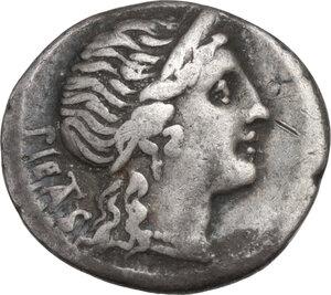 obverse: M. Herennius. Denarius, Rome mint, 108 or 107 BC