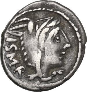 obverse: L. Thorius Balbus. Denarius, Rome mint, 105 BC