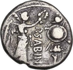reverse: P. Vettius Sabinus.. Quinarius, 99 BC