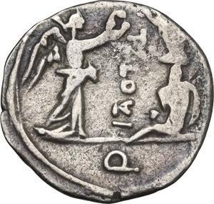 reverse: T. Cloulius. Quinarius, 98 BC