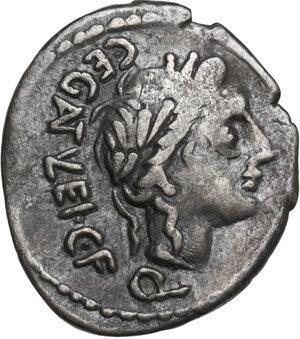 obverse: C. Egnatuleius. Quinarius, Rome mint, 97 BC