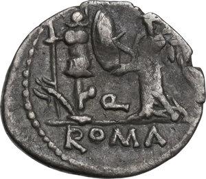 reverse: C. Egnatuleius. Quinarius, Rome mint, 97 BC