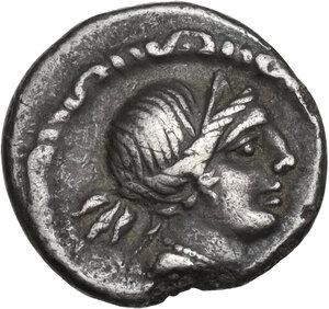 obverse: D. Iunius Silanus. Denarius, Rome mint, 91 BC